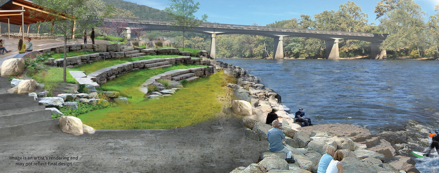 Woodfin greenway & blueway rendering